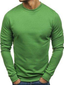 Zelená pánska mikina bez kapucne BOLF 01