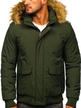 Zelená pánska zimná bunda BOLF 1770
