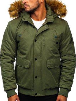 Zelená pánska zimná bunda BOLF 1778