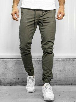 Zelené pánske jogger nohavice Bolf KA951