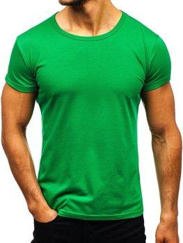 Zelené pánske tričko bez potlače BOLF AK999A