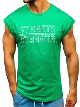 Zelené pánske tričko s potlačou BOLF 19256