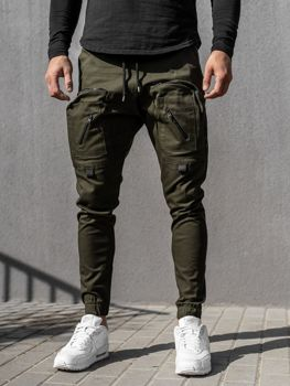 Zeleno pánske jogger nohavice Bolf 0956