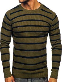 Zelený pánsky sveter Bolf 4356