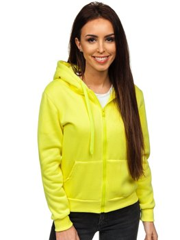 Žltá dámska mikina s kapucňou Bolf WB1005