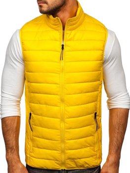 Žltá pánska prešívaná vesta Bolf HDL88001
