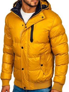 Žltá pánska zimná bunda Bolf  5839