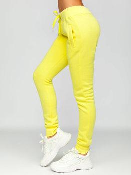 Žlté dámske tepláky Bolf CK-01