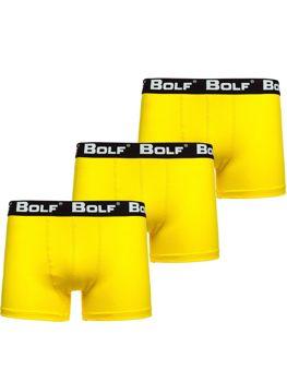 Žlté pánske boxerky 0953-3P 3ks Bolf