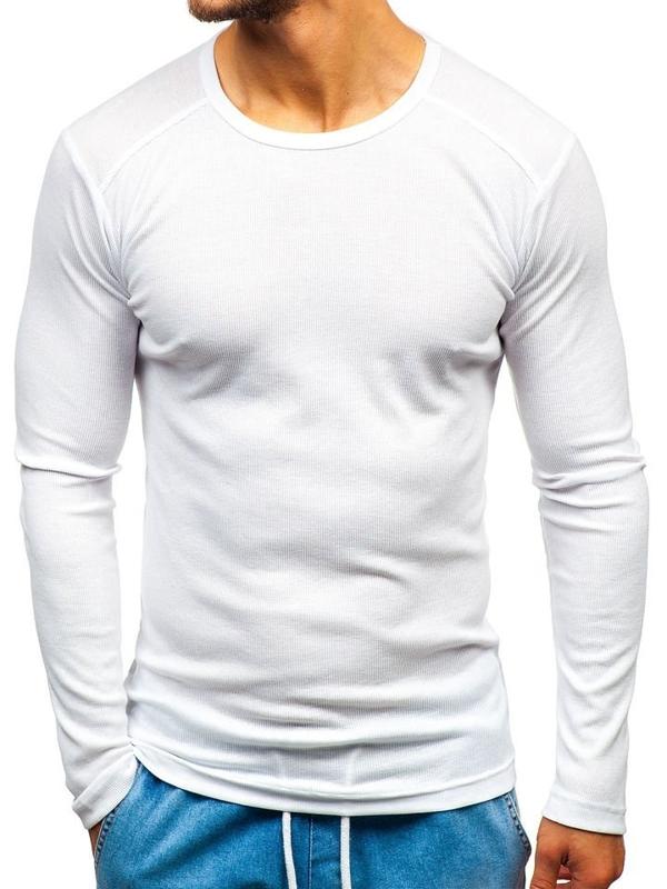 Biely pánsky nátelník bez potlače BOLF C10038