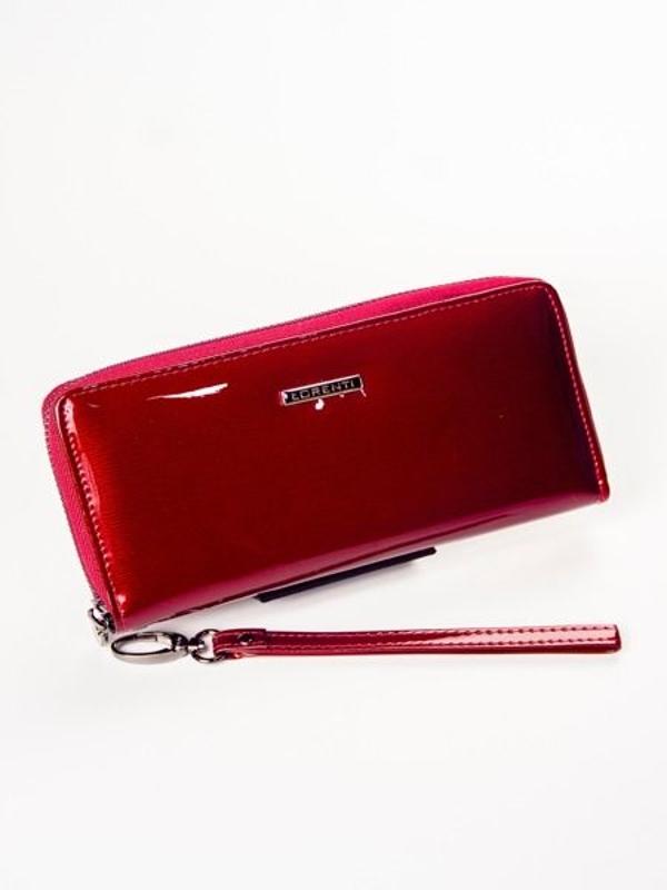 Červená dámska kožená peňaženka 1209