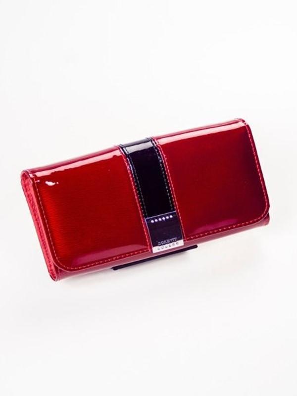 Červená dámska kožená peňaženka 1213
