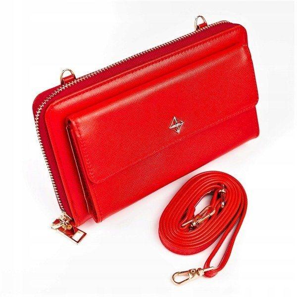 Červená dámska koženková peňaženka 1117