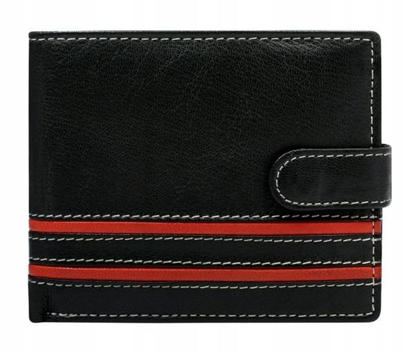 Červená pánska kožená peňaženka 600