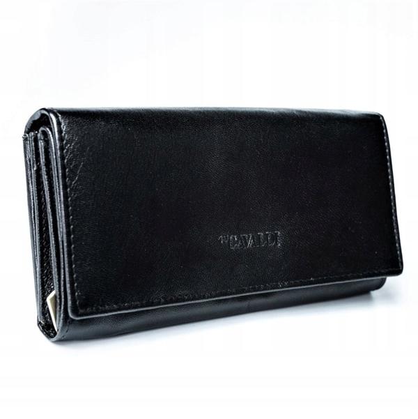 Čierna dámska kožená peňaženka 2773
