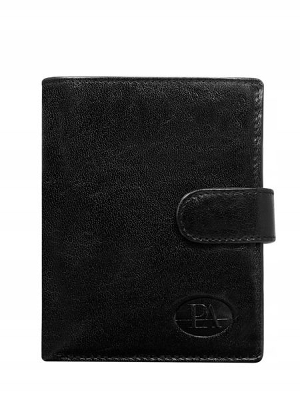 Čierna pánska kožená peňaženka 104