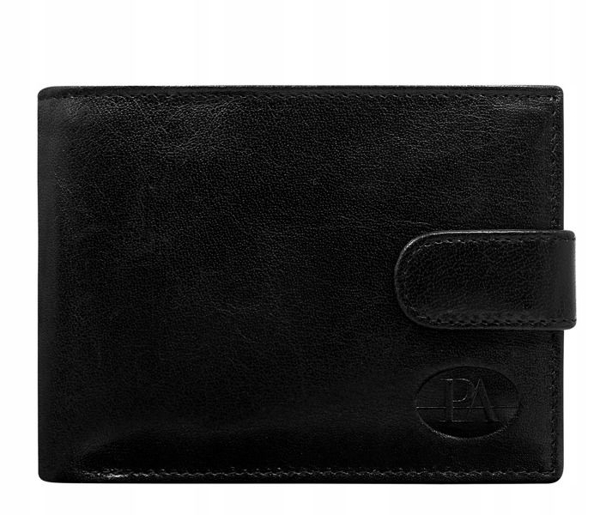 Čierna pánska kožená peňaženka 108