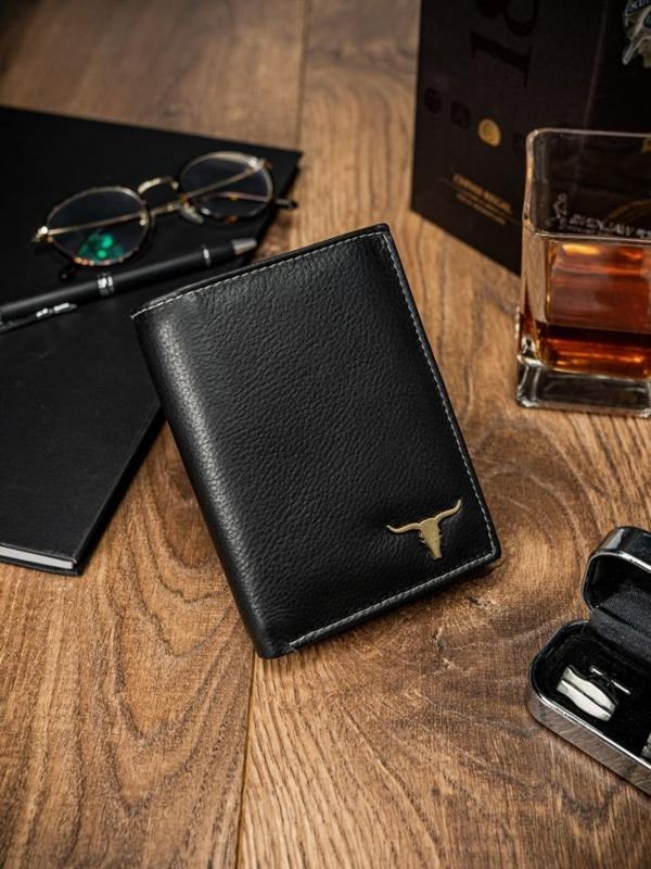 Čierna pánska kožená peňaženka 13
