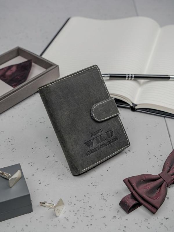Čierna pánska kožená peňaženka 3198