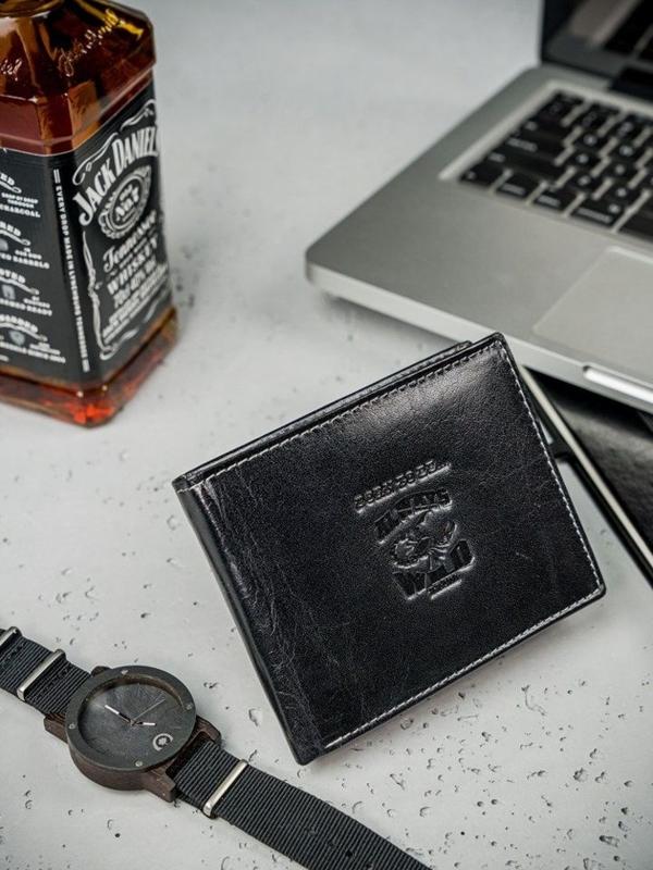 Čierna pánska kožená peňaženka  3206