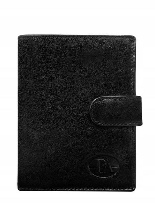 Čierna pánska kožená peňaženka 351