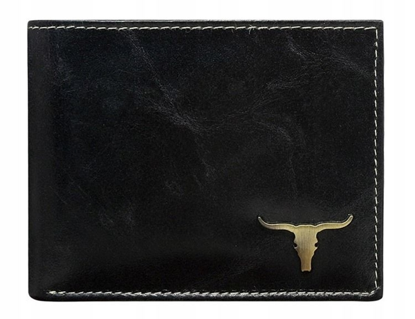 Čierna pánska kožená peňaženka 37
