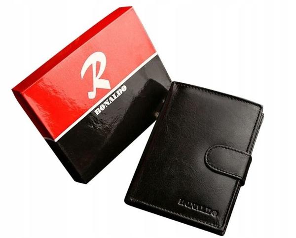Čierna pánska kožená  peňaženka 605