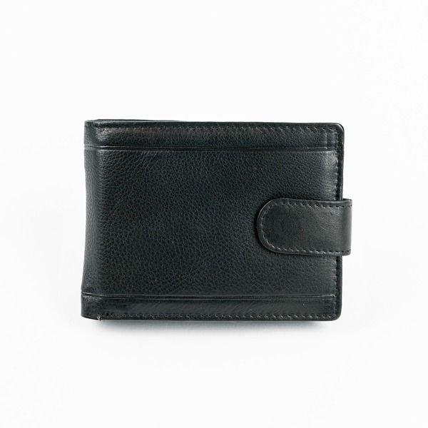 Čierna pánska kožená  peňaženka 878