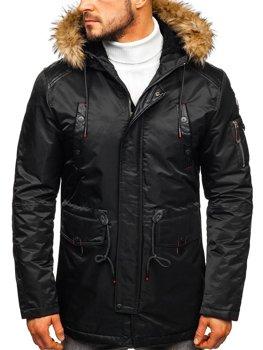 Čierna pánska zimná bunda BOLF 1080