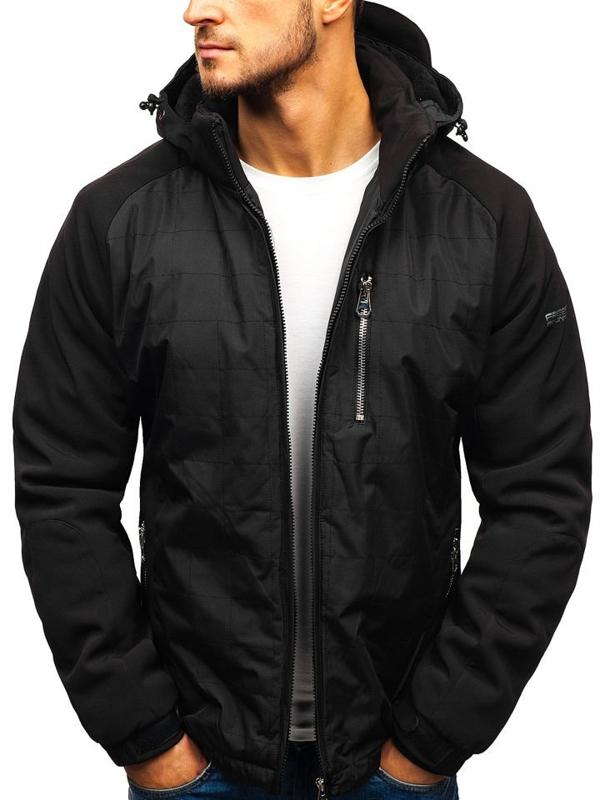 Čierna pánska zimná bunda BOLF 5681