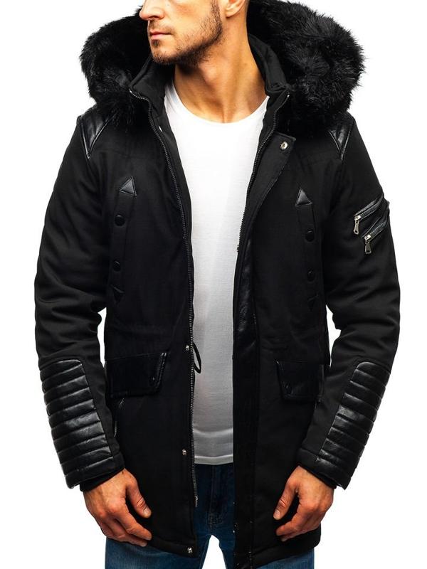 Čierna pánska zimná bunda BOLF 99111