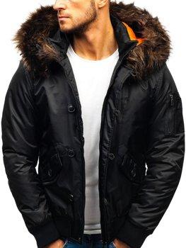 Čierna pánska zimná bunda BOLF 99123