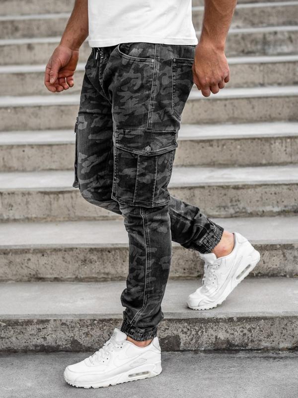 Čierne pánske kapsáčové joggery Bolf RB9491DT