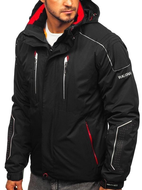 Čierno-červená pánska lyžiarská zimná bunda Bolf A5624