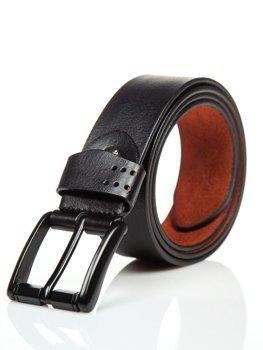 Čierny pánsky kožený opasok Bolf P011