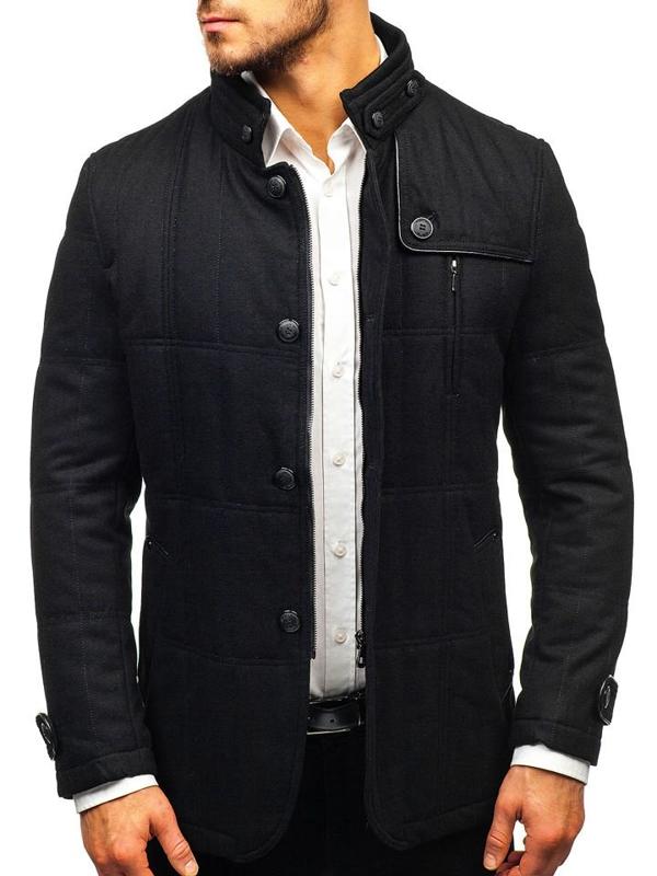 Čierny pánsky plášť BOLF EX66A