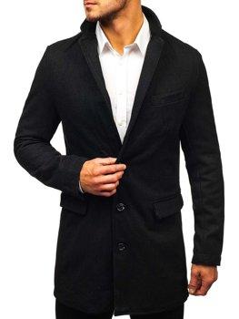 Čierny pánsky plášť BOLF NZ01