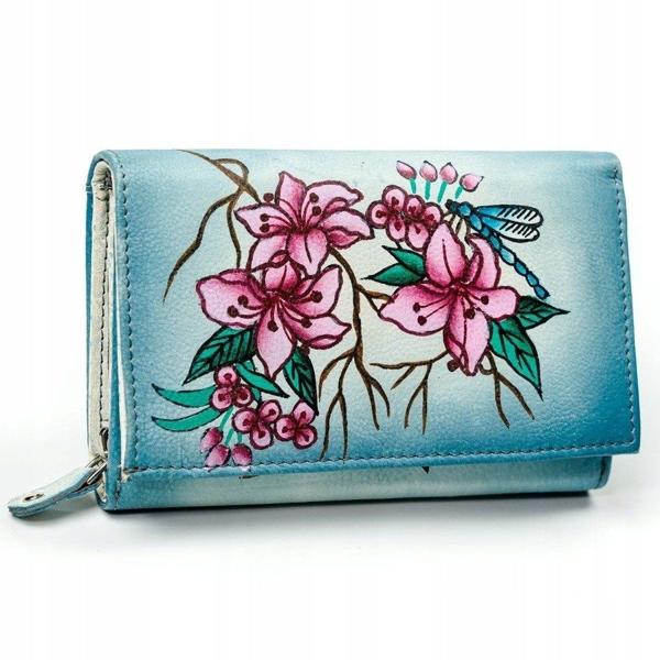 Farebná dámska kožená peňaženka 3045
