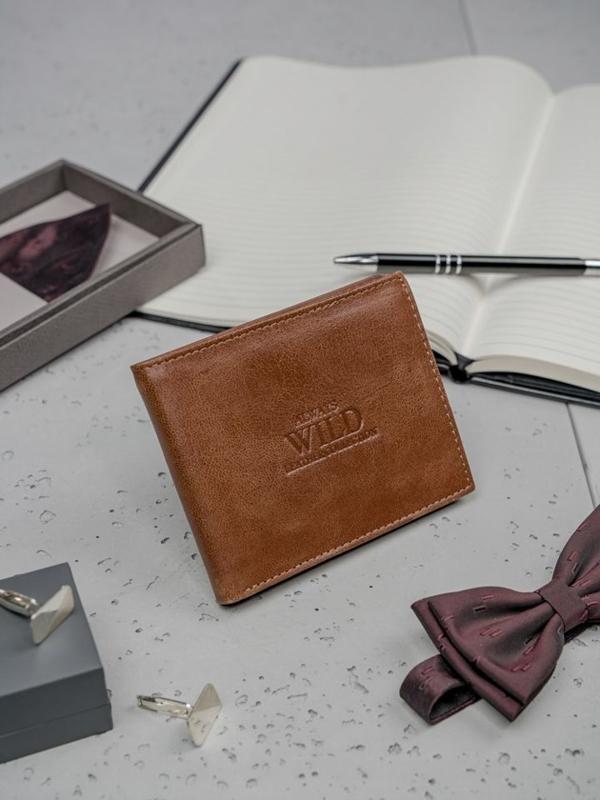 Hnedá pánska kožená peňaženka 3134