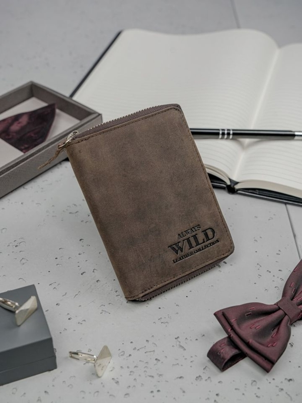Hnedá pánska kožená peňaženka 3152