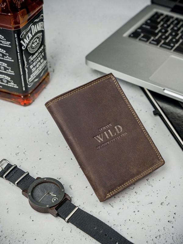 Hnedá pánska kožená peňaženka  3172