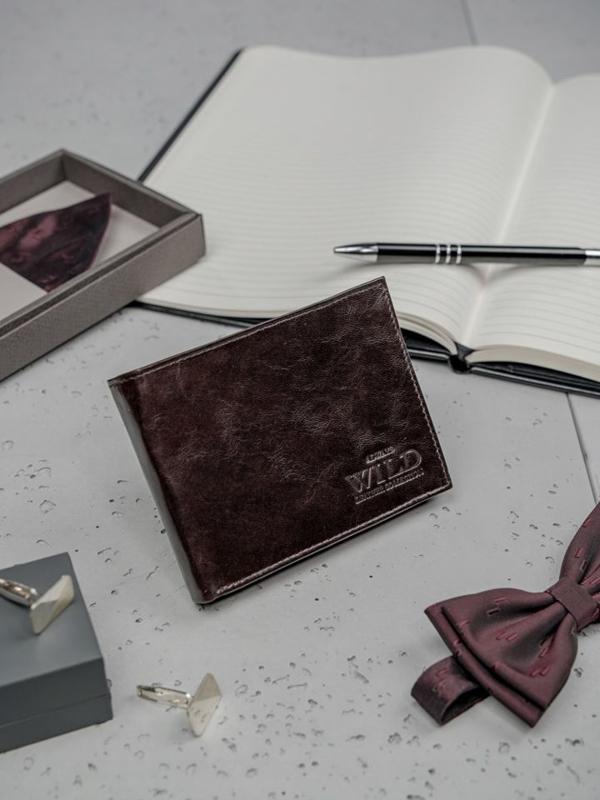 Hnedá pánska kožená peňaženka 3191