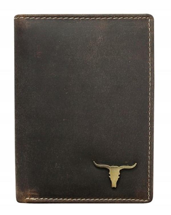 Hnedá pánska kožená peňaženka 496