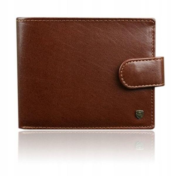 Hnedá pánska kožená peňaženka 916