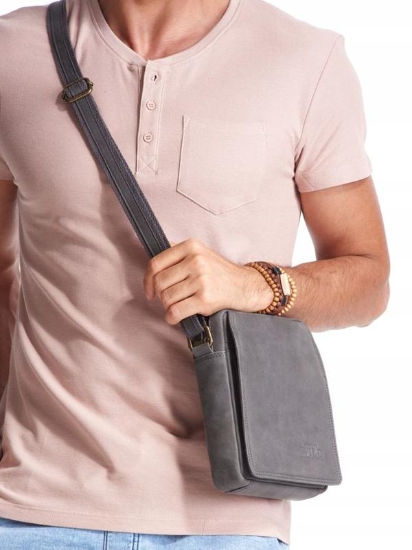 Šedá pánska kožená taška 2481