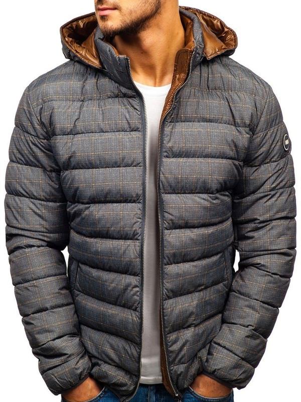Šedá pánska zimná bunda BOLF 5713