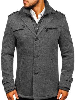 Šedý pánsky zimný kabát BOLF 88805