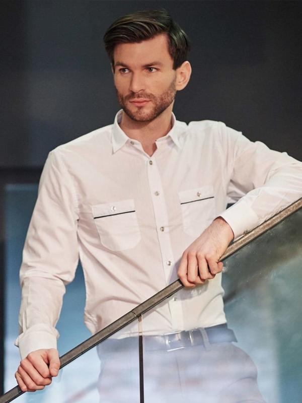 Štylizácia č. 398 - elegantná košeľa, chinos nohavice