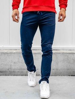 Tmavomodré pánske bavlnené nohavice Bolf KA8878