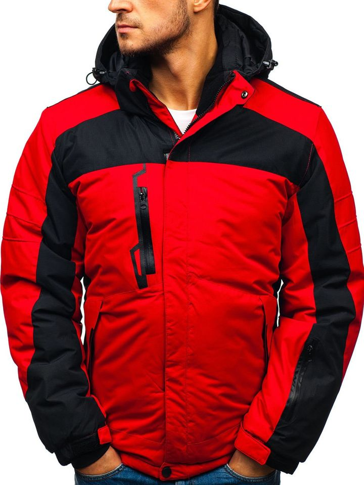 Červená pánska lyžiarska zimná bunda BOLF HZ8112 61ea34d1321